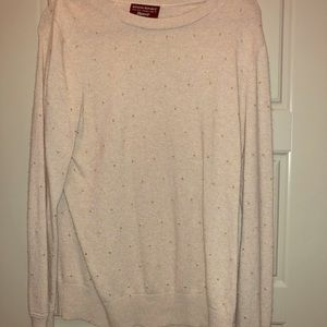 Beige Sweater with gold beads